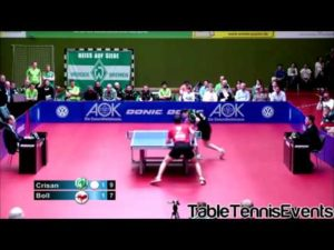 Timo Boll Vs Adrian Crisan: Match 2 [Ligue Allemagne 2012/2013]