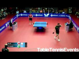Timo Boll Vs Adrian Crisan: 1/2 Finale des Play off [Ligue allemande 2012/2013]