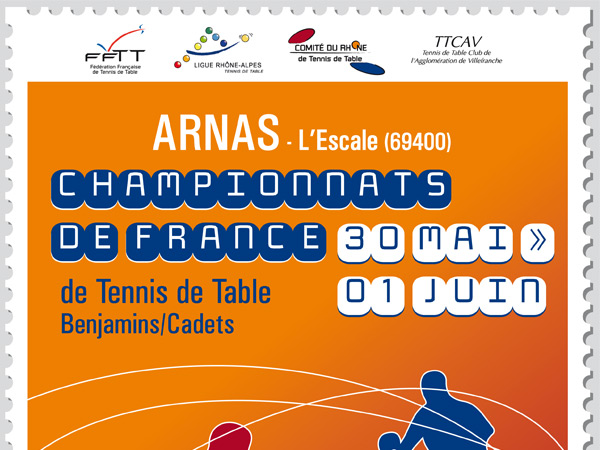 Championnats de france benjamins cadets arnas digiping - Championnat de france de tennis de table ...