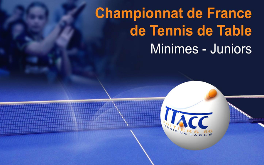 L 39 affiche officielle des championnats de france minimes - Championnat de france de tennis de table ...