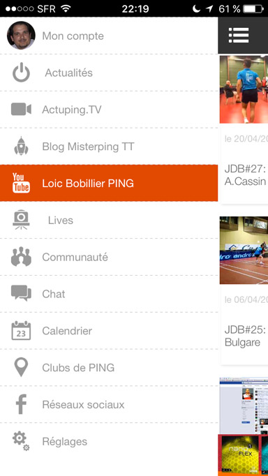 Loic BOBILLIER sur iPhone, Android et iPad d'Actuping.com