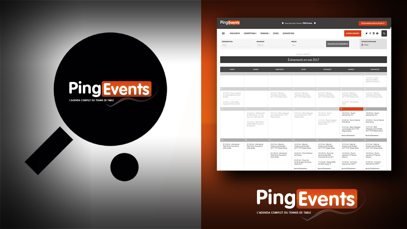PINGEvents, l'agenda complet du PING