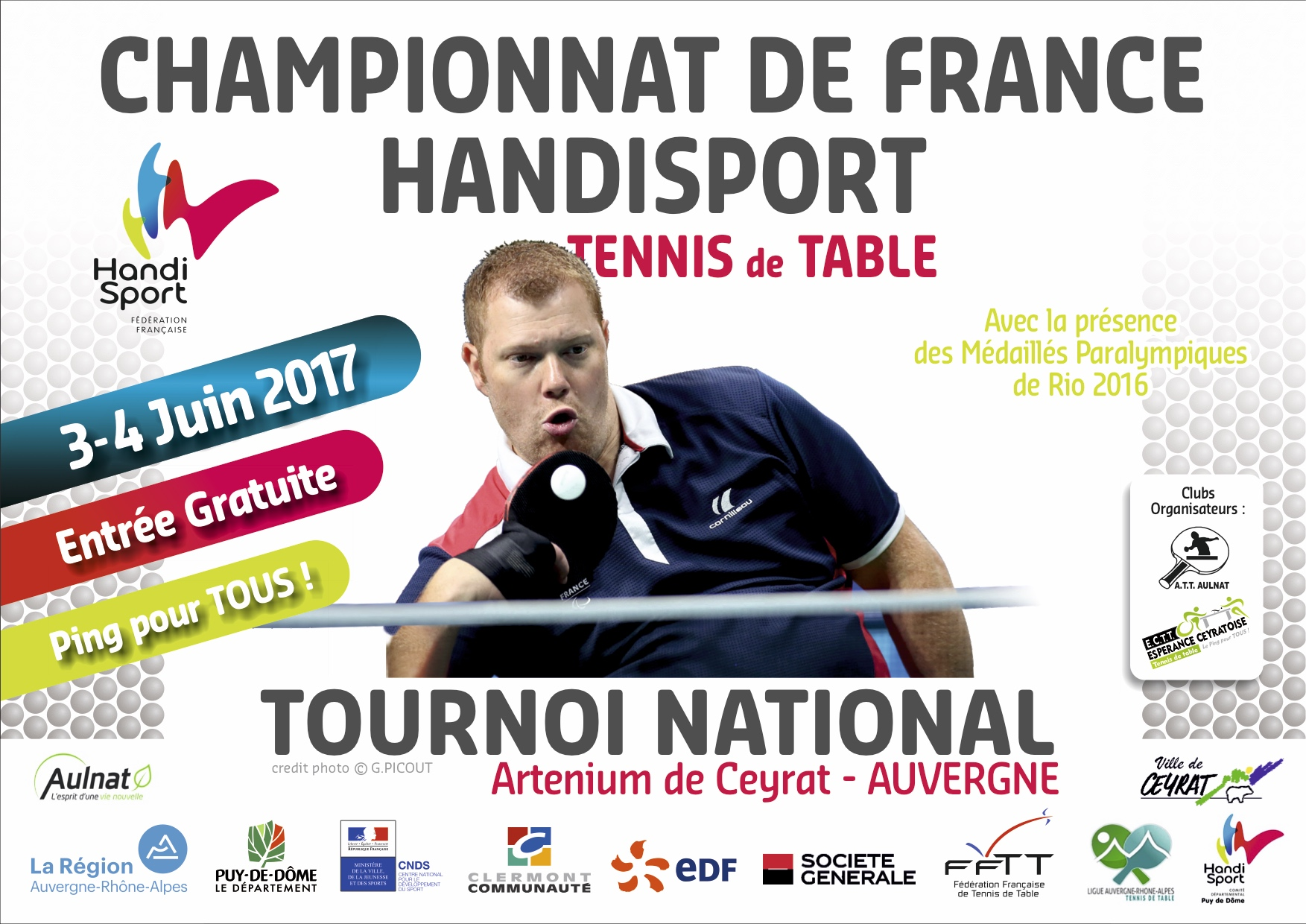 Championnats de France Handisport 2017 de Tennis de Table