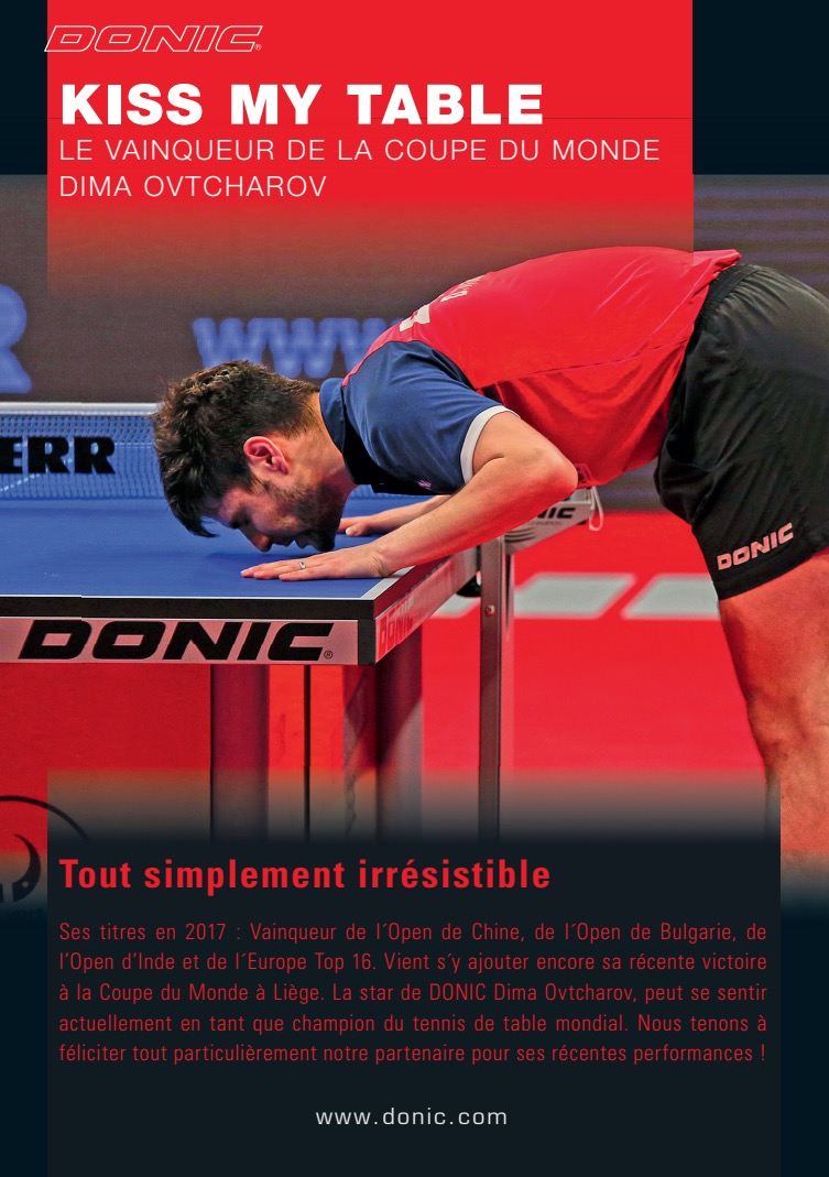 Dimitrij OVTCHAROV ou l'art d'embrasser le tennis de table | DONIC