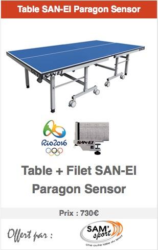 Sam'Sport offre une table San-EI pour les 1an d'Actuping