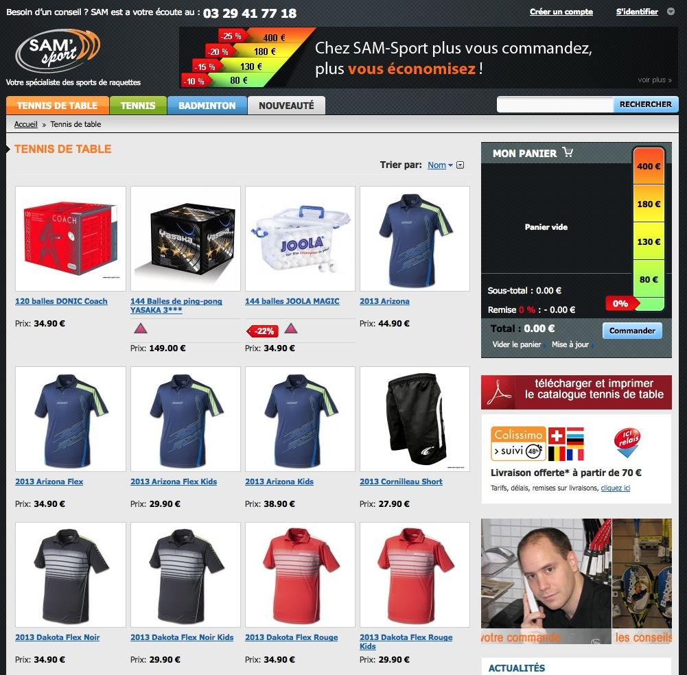 La boutique en ligne Sam'Sport