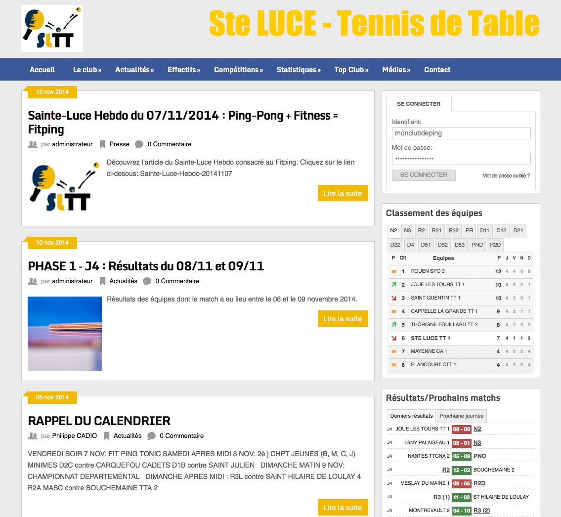 Saint Luce tennis de table