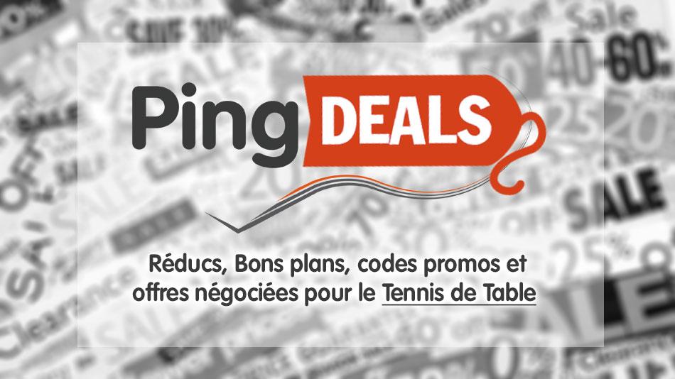 PING Deals - Plateforme réducs. et promotions du Tennis de Table