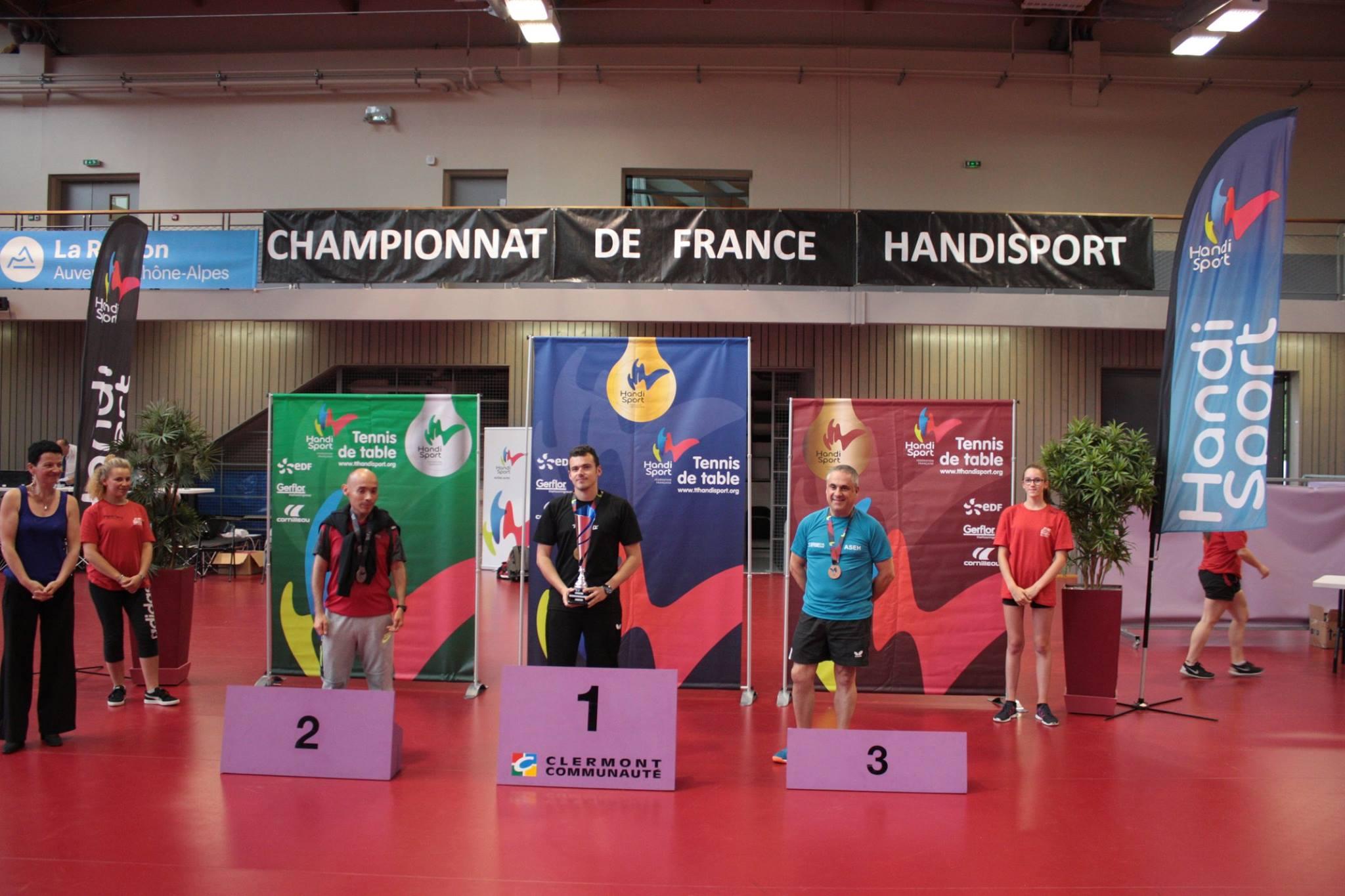 Podium du Tableau Classe 7 | TTHandisport