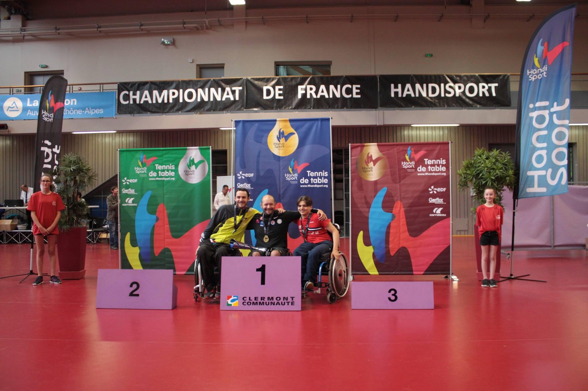 Podium du Tableau Classe 4 | TTHandisport