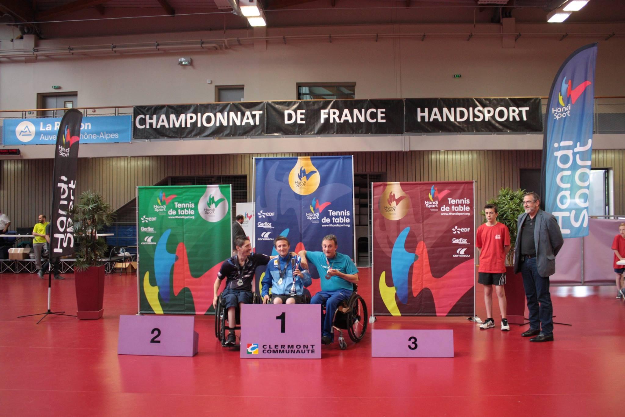Podium du Tableau Classe 2 | TTHandisport