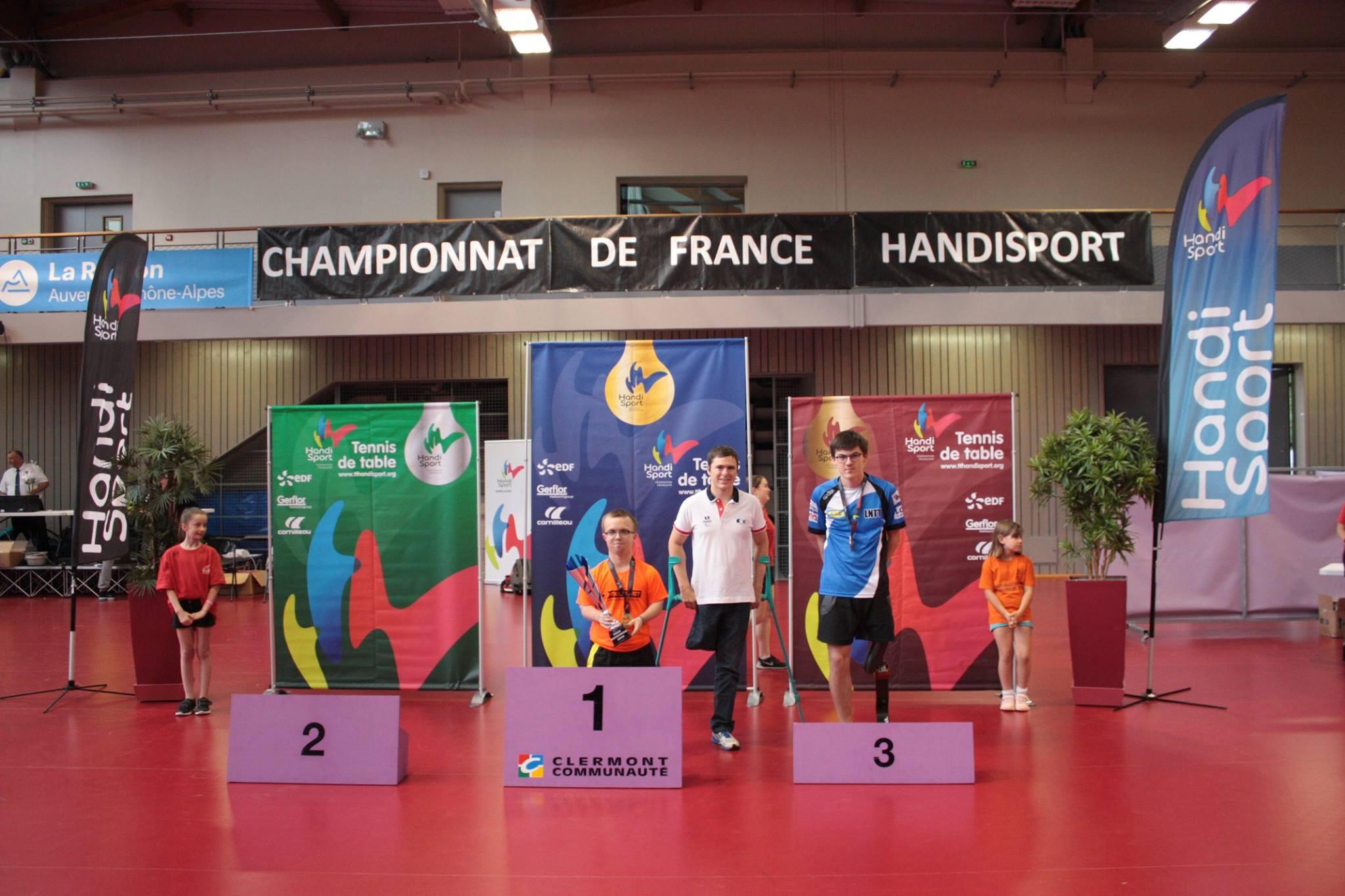 Podium du Tableau Classe 8 | TTHandisport