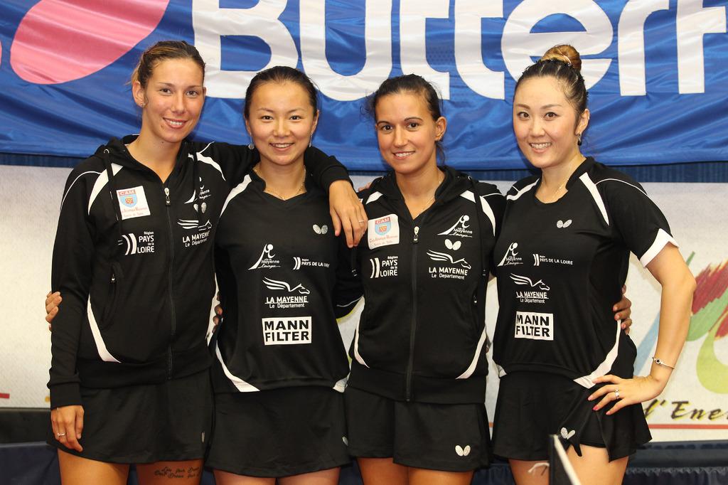 De gauche à droite : Laura GASNIER, Li SAMSON, Gabriela FEHER, Zenqi BARTHEL-APOLONIA | Mayenne TT