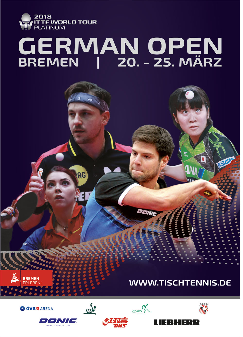 Affiche de l'Open d'Allemagne 2018 de tennis de table