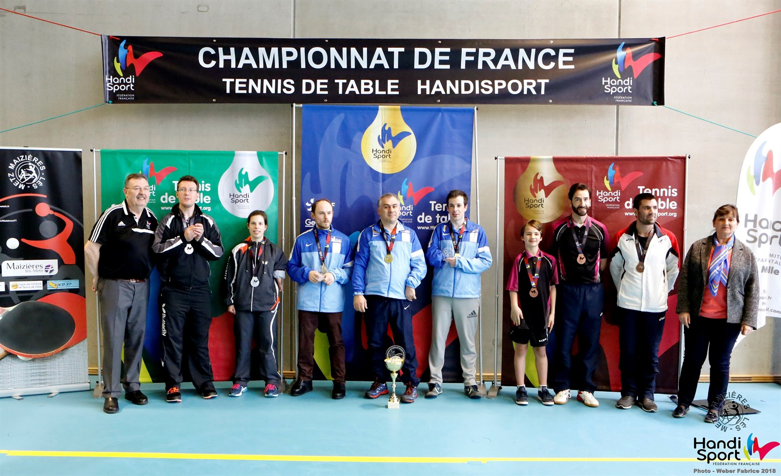 Championnats de France Handisport par équipes 2018 - Classement - Tableau DEBOUT | Fabrice WEBER