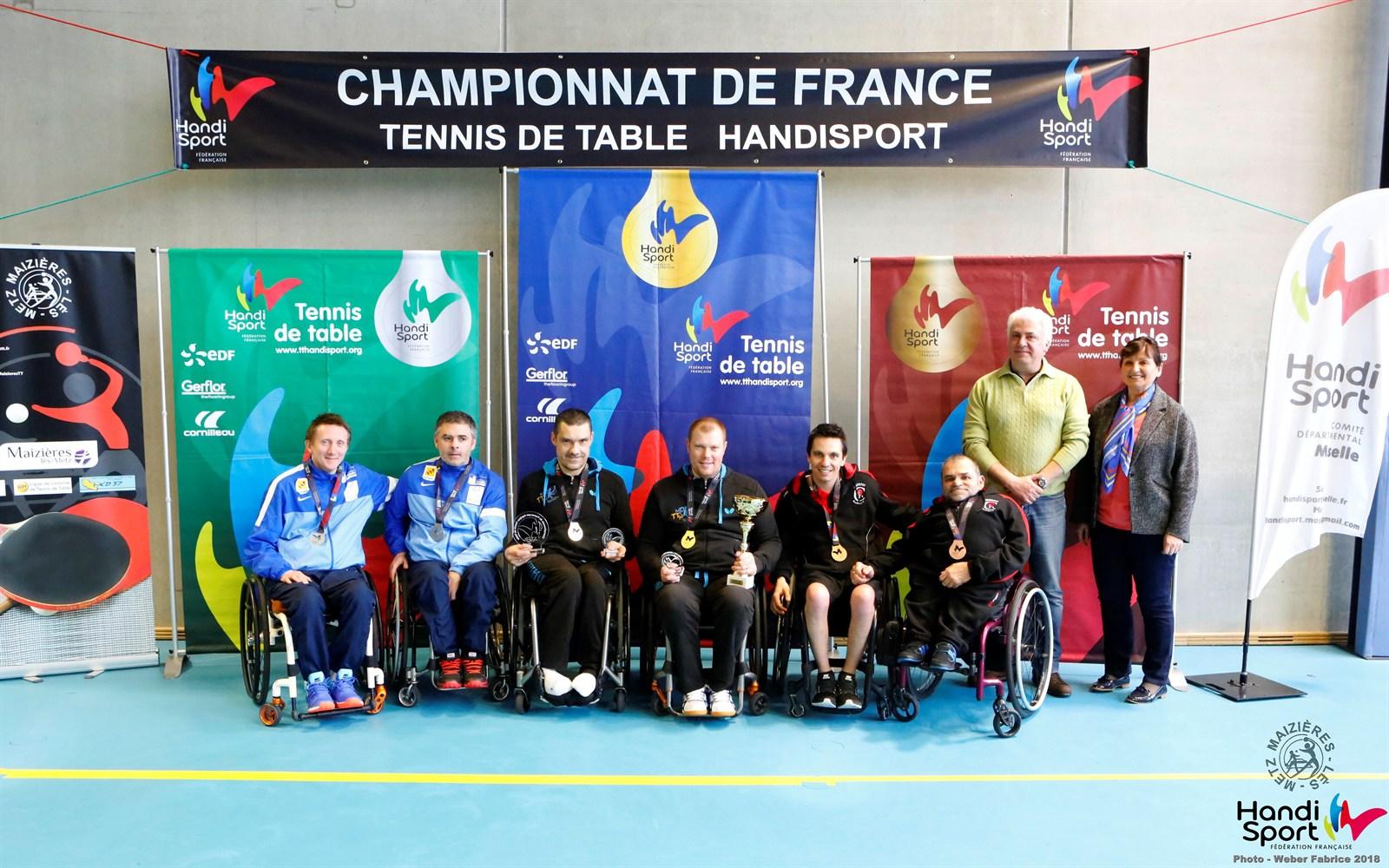 Championnats de France Handisport par équipes 2018 - Classement - Tableau ASSIS | Fabrice WEBER