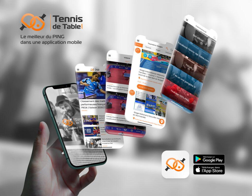 Télécharger GRATUITEMENT l'application Tennis-de-Table.com | iPhone, iPad (à venir) - Android