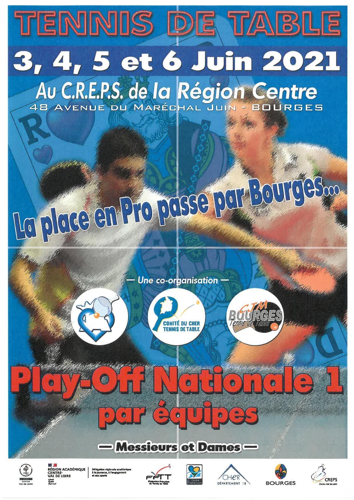 Affiche des Play-Off Nationale 1 - 2021