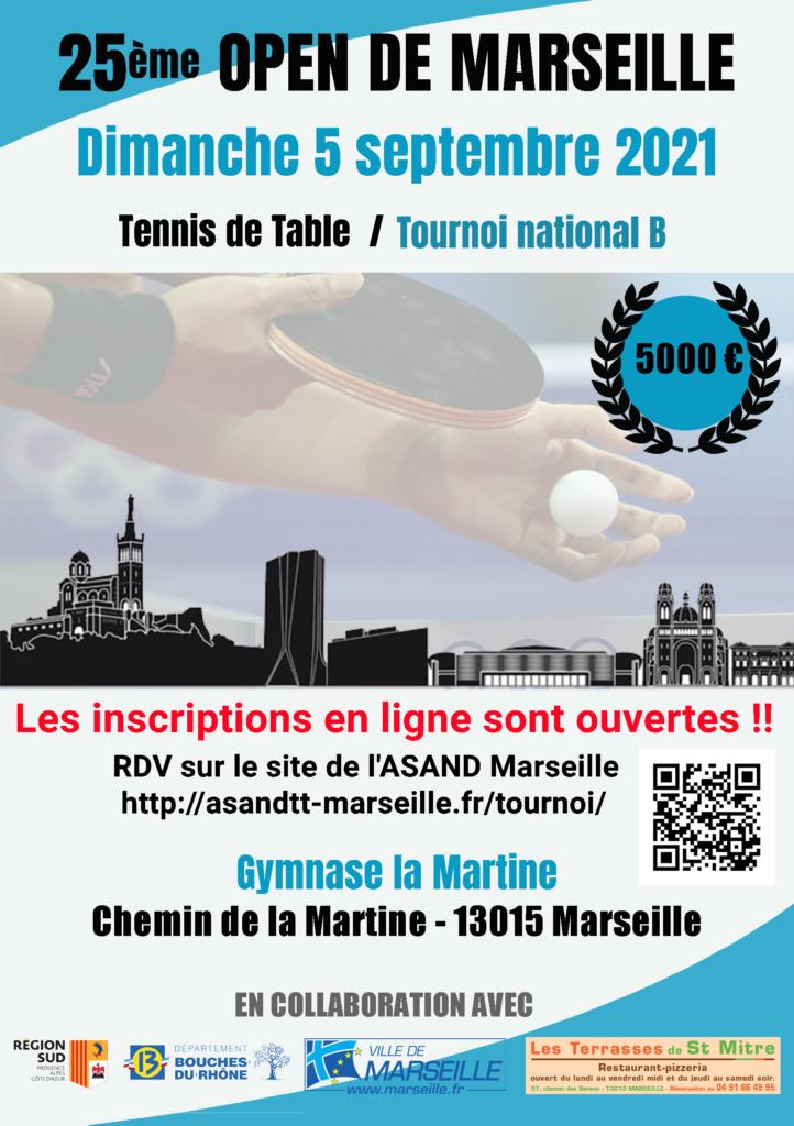 Affiche du 25ème Open de Marseille